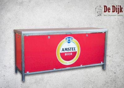 Klaptoonbank + dicht bovenblad  Amstel