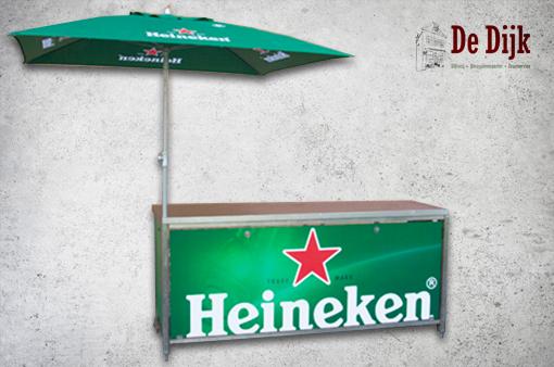 Klaptoonbank / dicht bovenblad Heineken