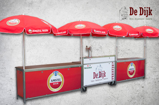 Evenementenset- biertap + 2 klaptoonbanken Amstel